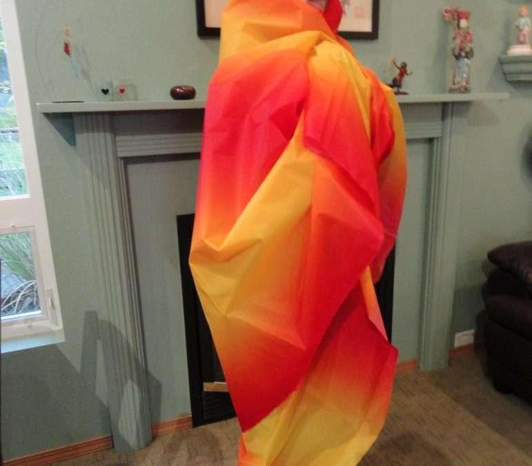 Raffle: Premier Orange Gradient Fabric