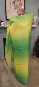 Green Gradient Fabric