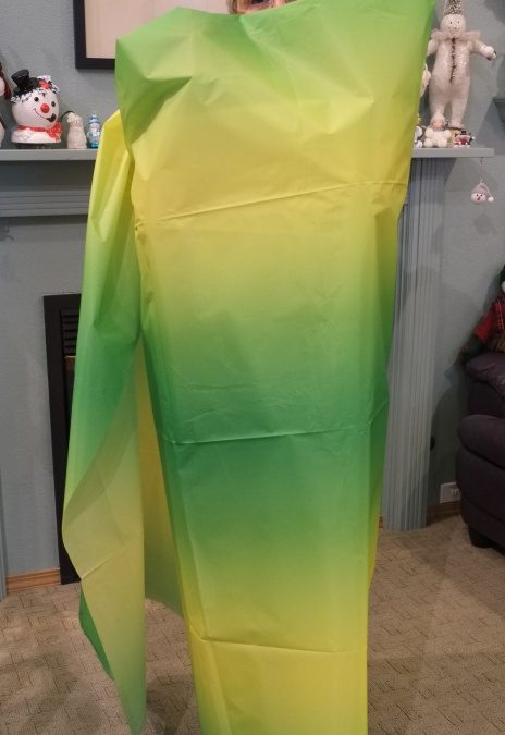 Raffle: Premier Green Gradient Fabric and Matching Fuzzy Tail