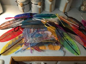 Team Evidence and Fortuna Forms donated feathers to the Kitemania South