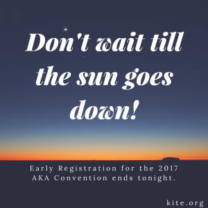 Don't wait till the sun goes down!