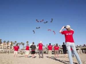 Kite events on the beach